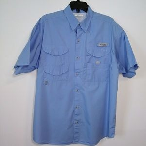 Columbia PFG Short Sleeve Button Down Shirt